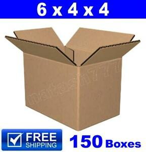 150 6x4x4 Cardboard Mailing Packing Shipping Box 200 32 Ect Corrugated Carton