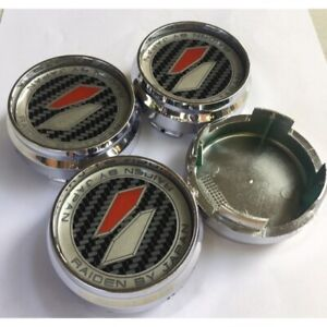 New 4x Cup 62 Mm Wheel Center Caps Cover Hub Silver For Lenso Raiden Racing