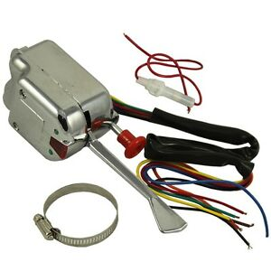 New 12v Chrome Universal Street Hot Turn Signal Switch Rod For Buick Ford Gm