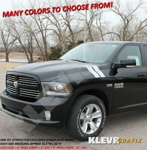 Solid Hash Marks Stripes Set Fender Vinyl Decal Graphics Stickers Dodge Ram 1500