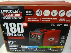 New Lincoln Electric 180 Hd Amp Weld Pak Mig Wire Feed Welder 180hd K2515 1