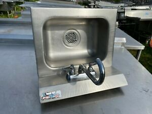 Amtekco 18 X 15 5 Commercial Wall Mount Stainless Steel Hand Wash Sink Nsf
