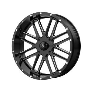 Msa Offroad Wheels Bandit 22x7 4x137 00 Gloss Black Milled 0 Mm Wheel