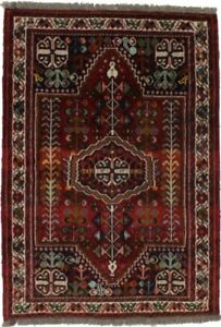 Vintage Hand Knotted Small 3 5x5 0 Wool Tribal Rug Oriental Home D Cor Carpet