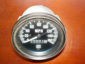 Vintage Stewart Warner 160 Mph Speedometer 825748 Race Car Hot Rod Rat Rod