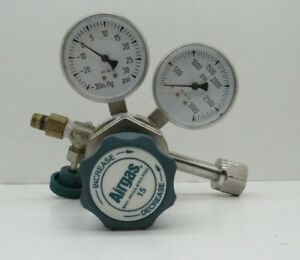 Airgas Y12 244a Two Stage Brass Analytical Cylinder Regulator 0 25 Psi