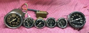 Free Shipping Vintage Stewart Warner Gauge Set Large Block Sw Tapered Needle