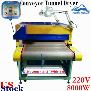 220v 8000w Conveyor Tunnel Dryer 7 2ft Long X 31 5 Wide Belt For Screen Print