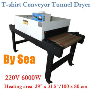 220v T shirt Conveyor Tunnel Dryer 5 9ft Long X 31 5 Belt For Screen Printing