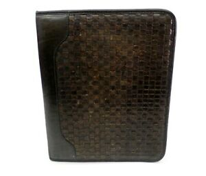 Franklin Covey Quest Planner Leather Organizer Woven 1 5 7 Ring Black Usa
