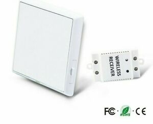 Waterproof Wireless Light Switch Push Button Turn On Off Type 50 60hz Switches