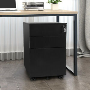 Bahom Steel File Cabinet Organizer With 3 Drawers Document Storage Box