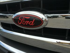Ford Oval Emblem Black Red Sticker Decals Overlays For 2018 F150