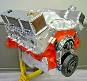 383 Small Block Chevy Stroker Crate Engine Alum Heads 450hp 450tq