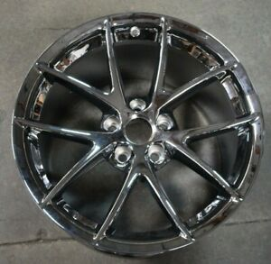 09 10 11 12 13 Corvette Oem Wheel Rim Chrome Rear 19x12 9596791 9597975 5398