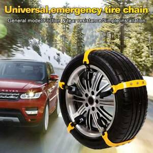 10pcs Emergency Thickening Ice Snow Anti Skid Tire Chains Slip For Most Car Suv