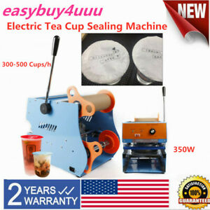 110v Professional 350w Electric Tea Cup Sealer Sealing Machine 300 500cups h