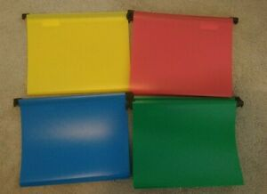 New Hanging File Folders 12 Letter Size Bright Red Yellow Blue Green Colors
