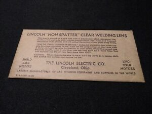 Vintage Lincoln Welding Lens Super Visibility 2 X 4 1 4 Clear Non Spatter