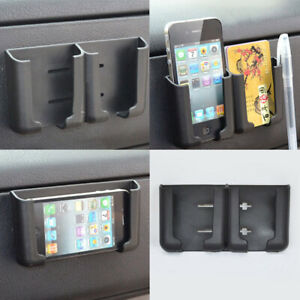 1x Car Accessories Card Cell Phone Holder Stand Cradle Console Bracket Box Black