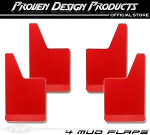 X4 Dodge Ram 1500 2500 Big Horn Rebel Truck Mudflaps Pdp Mudflaps Plain_ Red