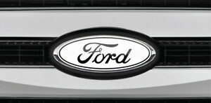 Read The Description Ford Overlay Logo White Black Sticker Decals 3pc Kit