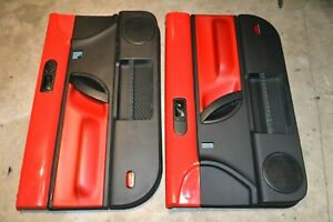 1998 2010 Vw New Beetle S Turbo Black Red Interior Door Trim Panels L R Side Oem