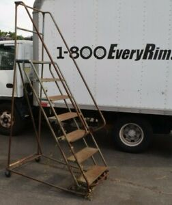 Rolling Step Ladder 7 Step 24 Wide 66 Tall At Highest Step