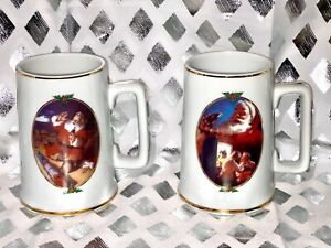 2-1996 Christmas Coca-Cola Mugs Limited Edition