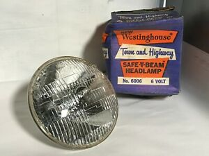 1940s Westinghouse 6 volt Town And Highway Safe t beam Headlamp 6006