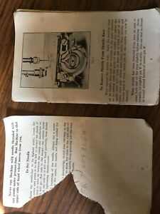 Treadle Sewing Machine Manual With Parts List For No 21 Head