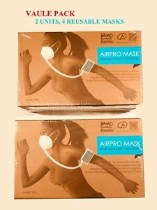 Two Broad Electrical Airpro Purifying Respirators 4 Reusable Masks value Pack