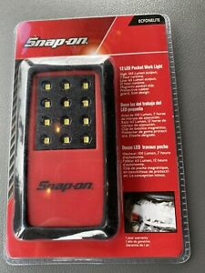 Red Snap On Tools 12 Led Pocket Work Light Battery Operated Part Ecfonelite