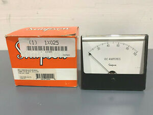 New Simpson 02920 Analog Panel Ammeter 0 100a Dc Model 1329a