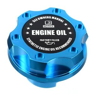 Blue Billet Black Engine Oil Anodized Oil Cap Filler Fits Gm Silverado Sierra Hd