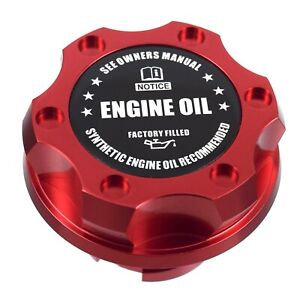 Red Billet Black Engine Oil Anodized Oil Cap Filler Fits Silverado Sierra Hd