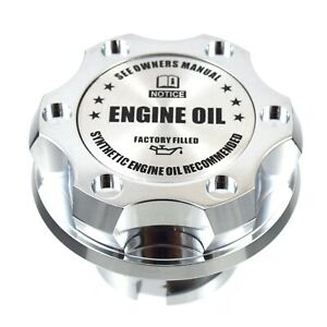 Chrome Billet Silver Engine Oil Anodized Cap Filler For Gm Chevy Buick Cadillac