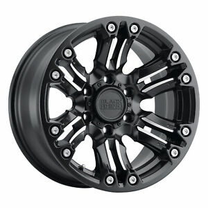 Black Rhino Asagai 17x8 5 5x139 7 0mm Matte Black 4 Wheels Free Lug Nuts