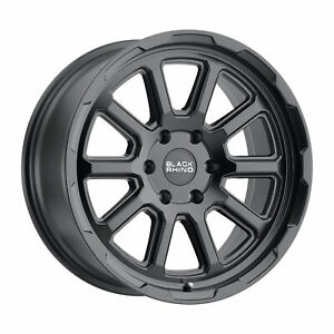 Black Rhino Chase 17x8 5x114 3 10mm Matte Black 4 Wheels Free Lug Nuts