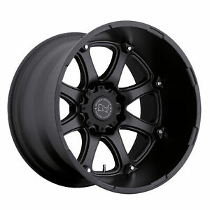 Black Rhino Glamis 17x9 8x165 12mm Matte Black 4 Wheels Free Lug Nuts