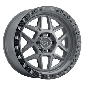 Black Rhino Kelso 17x9 5x127 0mm Gray 4 Wheels Free Lug Nuts