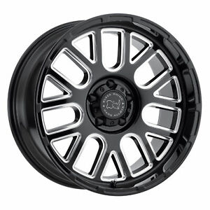 Black Rhino Pismo 17x9 5 5x139 7 0mm Gloss Black 4 Wheels Free Lug Nuts