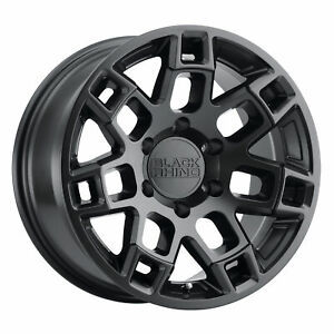 Black Rhino Ridge 20x9 5x127 2mm Matte Black 4 Wheels Free Lug Nuts