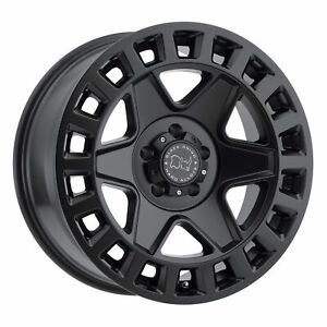 Black Rhino York 17x9 5x139 7 0mm Matte Black 4 Wheels Free Lug Nuts