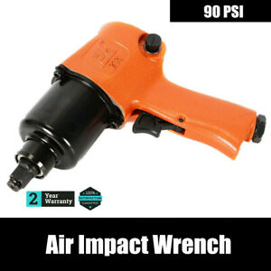 Orange Twin Hammer Mechanism Air Impact Wrench Tool Gun 90 Psi 1 4 Npt 7cfm