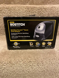 Bostitch Quietsharp Executive Electric Pencil Sharpener Black 16e