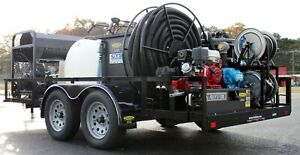 Hot Water Pressure Washer Capture Recycle Rig Portable Trailer System