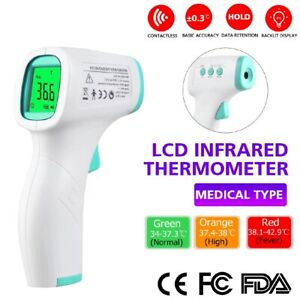 New Afk Non contact Digital Ir Infrared Forehead Thermometer Gun Model Yk001