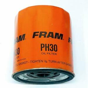 Vintage Fram Ph30 Spin On Engine Oil Filter Lot Of 4 New Old Stock Many Gm