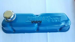 Vintage Ford Blue Valve Cover Powered By Ford Embossed Text Very Nice